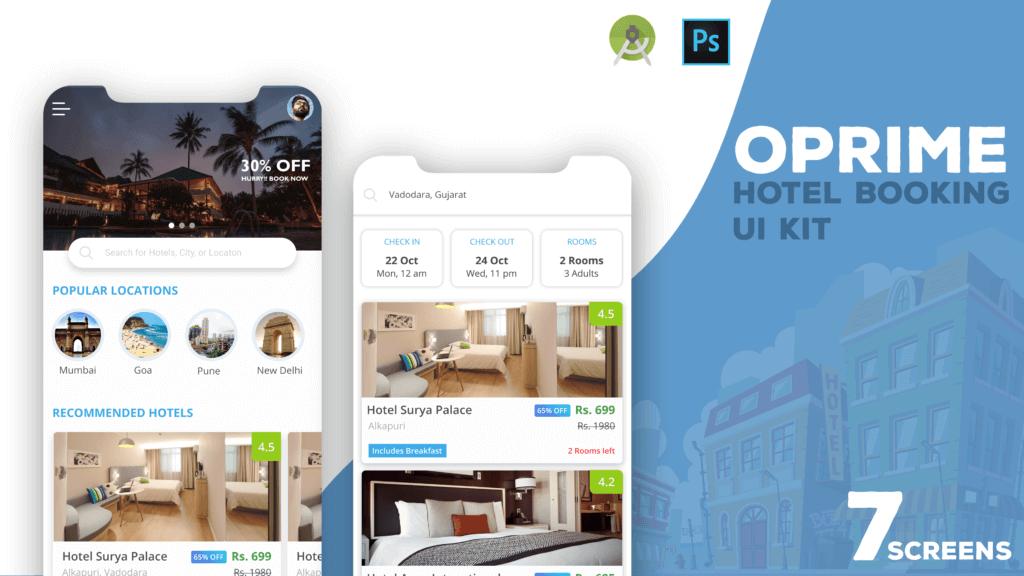 Oprime Hotel UI Kit