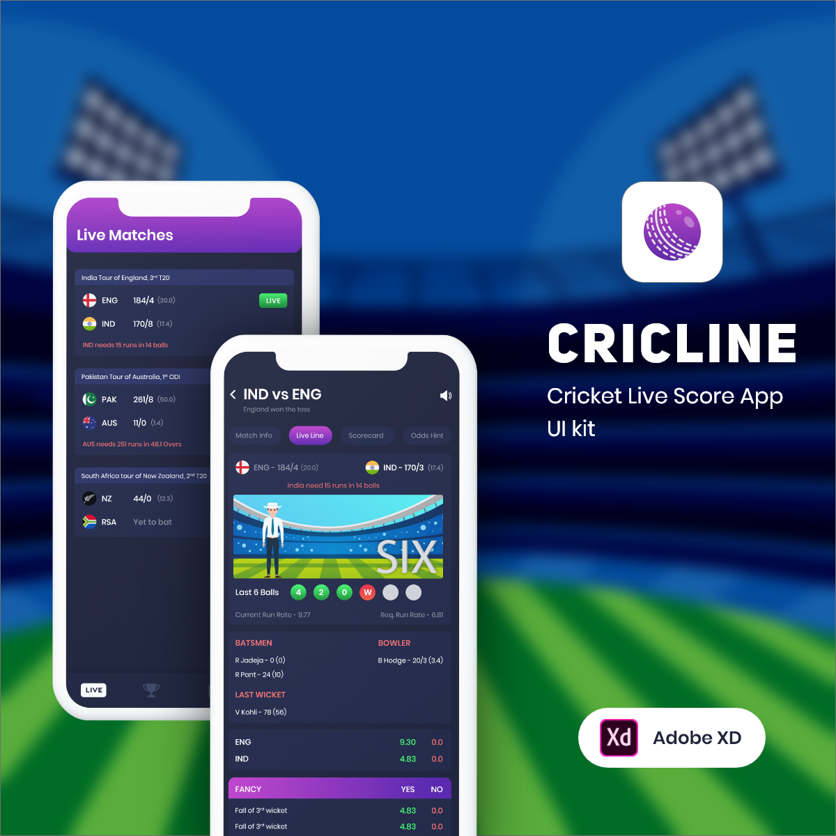 CricLine UI Kit